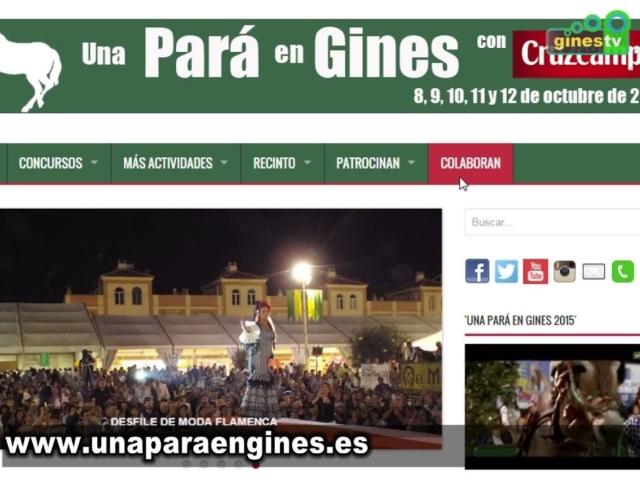 """La web de """"Una Pará en Gines"""" renu..."""